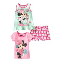 Disney's Minnie Mouse Glitter Top & Shorts Set - Baby Girl, Size: