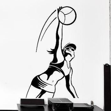 Wall Sticker Sport Volleyball Sexy Girl Female Woman Vinyl Decal Unique Gift (z3049)