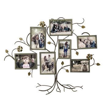 Decorative Bronze-Color Iron Tree Wall Hanging Collage Picture Photo Frame [PF0526]