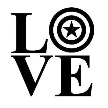Love Marvel  Vinyl Car/Laptop/Window/Wall Decal