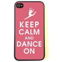 iPhone 4 Case - Silicone Case Protective iPhone 4/4s Case- Keep Calm Dance On