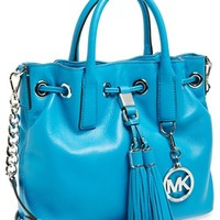 MICHAEL Michael Kors 'Medium' Leather Drawstring Satchel