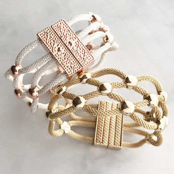 Glam statement bracelet