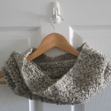 Knit Cowl - Made in Canada - Wool Cowl - Tweed Cowl - Neckwarmer - Knit Neck Warmer - Warm Wool Cowl - Winter Accessory - Loop Scarf - Fall