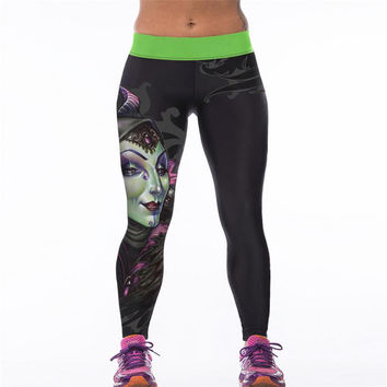 3D printed Leggings Owl Cat Corpse Bride Good quality sport trousers skinny patchwork elastic waist sexy legging 19 Color K079