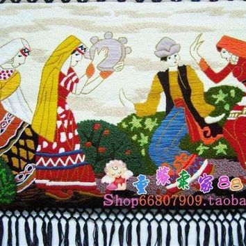 MDIG9GW Handmade art tapestry tapestry wall mural ethnic dance room classic decorative stereo tapestry
