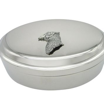 Pheasant Bird Head Pendant Oval Trinket Jewelry Box