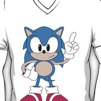 Sonic The Hedgehog V-Neck