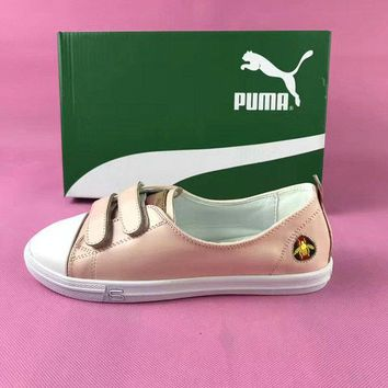 2018 Newest Puma velco Patent Leather Platform Pink sneaker