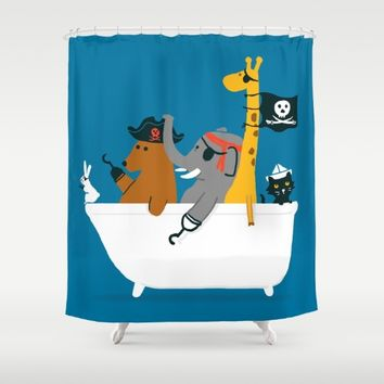 Everybody wants to be the pirate Shower Curtain by Picomodi