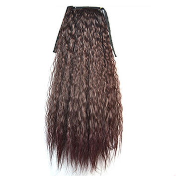 Wig Corn Perm Lace-up Horsetail 168-2TBUG