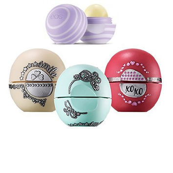 EOS Lip Balm Holiday Limited Edition Bundle - 4 Amazing Flavors