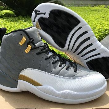 NIKE AIR JORDAN 12 Cool Gray/Gold