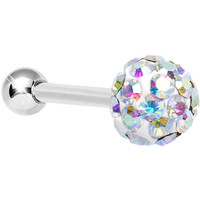 16 Gauge Aurora Ferido Crystal Tragus Cartilage Earring 5mm Top | Body Candy Body Jewelry