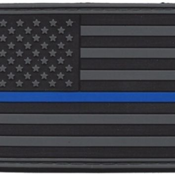 PVC SUBDUE THIN BLUE LINE FLAG PATCH