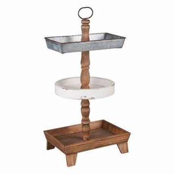 Rustic Three Tier Decorative Tray