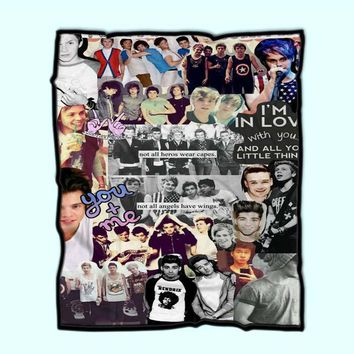 5 Seconds Of Summer And One Direction Collge Fleece Blanket