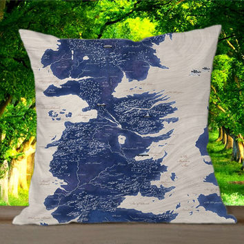 Game of Thrones World Map for Pillowcases