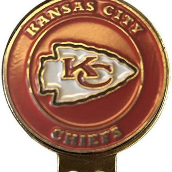 Kansas City Chiefs Golf Ball Marker ON HAT Clip Brass Gift IDEA NFL