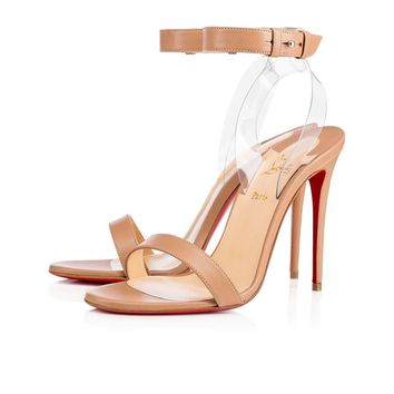 Christian Louboutin Cl Jonatina Nude/transp Leather 17s Sandals 11711103241