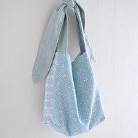 MISS Dragonfly, extra small shopping bag, children handbag, simple everyday reversible market bag