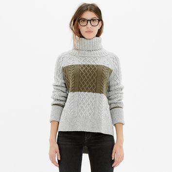 Cityblock Turtleneck Sweater in Colorblock