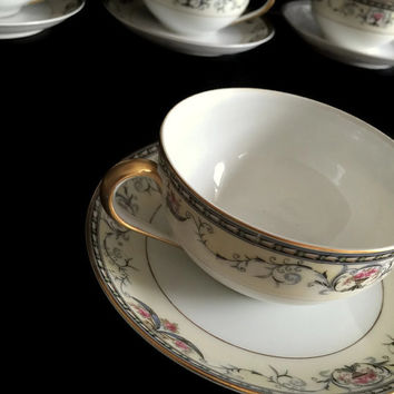 Noritake Mayville China Tea Cup and Saucer Ten Available 1920-1940 Made in Japan