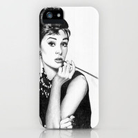 Audrey hepburn breakfast at tiffany's iPhone Case by Calibos | Society6