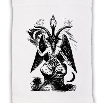 """Baphomet Illustration Micro Terry Sport Towel 11""""x18 by TooLoud"""