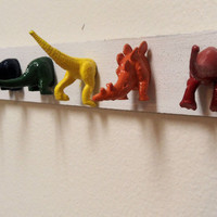 Wooden Dinosaur Butts Necklace or Jewelry Holder