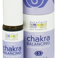 Aura Cacia Chakra Balancing Aromatherapy Roll On Insightful Third Eye