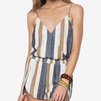O'Neill Juniors' Brenda Striped Spaghetti-Strap Romper - Juniors Jumpsuits & Rompers - Macy's