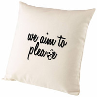 Fifty Shades Of Grey We Aim To Please Cushion Cover