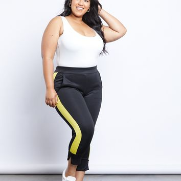 Plus Size On My Side Stripe Pants
