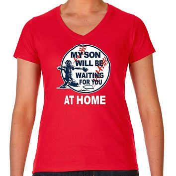 Baseball Mom My Son Is A Catcher T Shirt