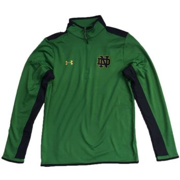 Notre Dame Fighting Irish Green Flawless Survival 1/4 Zip Track Jacket By Under Armour
