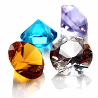 30mm Quartz Crystal Glass Diamond Paperweight 7 Colors raw amber Feng Shui Confetti Wedding Bridal Party Decoration Vase Filler