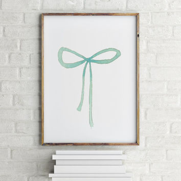 Ribbon poster Typography art Typographic print Gift idea home decor Ribbon art Inspirational poster Room poster Printable poster