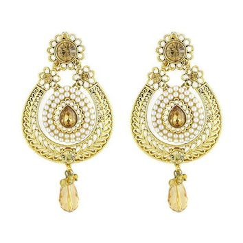 CREYV2S VVS Jewellers Gold Plated Ethnic Indian Bollywood Style Traditional Women Earrings