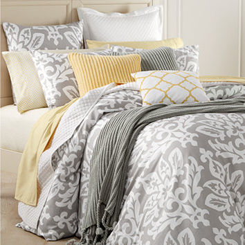 Charter Club Damask Designs Cotton Smoke Bedding Collection, Only at Macy's | macys.com