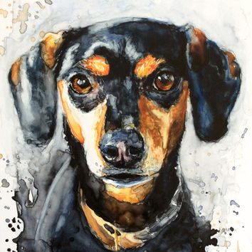Custom Watercolor Pet Portrait on High Quality Paper Made to Order, Painting - Realistic Hand Painted Fine Art