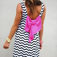 Get Set Go Dress: Black/White | Hope's