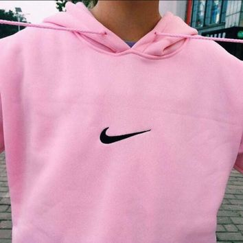 """Nike""Women Men Fashion Print Hooded Pullover Tops Sweater Sweatshirts G"