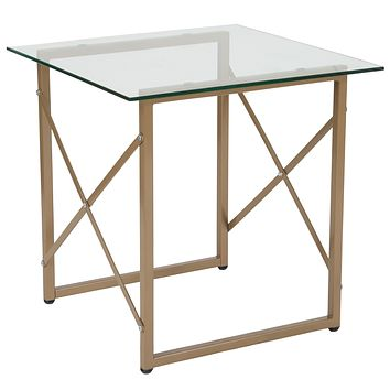 Mar Vista Collection Side Table with Metal Frame