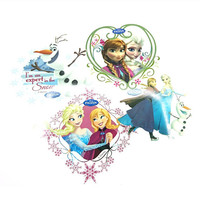 Disney Stickers Frozen Elsa Anna Olaf Big Plastic Wall Decals Waterproof Window Decorations
