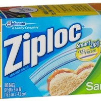 Ziploc Bag, Sandwich, 100 Count