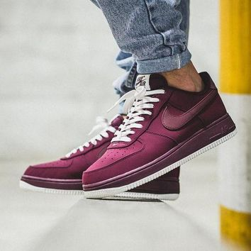 """DCCKO03T Nike Air Force 1 Low """"Night Maroon�820266-604"""