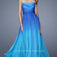 Floor Length Strapless Sweetheart Ombre La Femme Dress