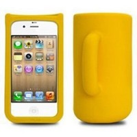 Taylor 3d Cute Mug Case Cover for Iphone 4/4s(Yellow)