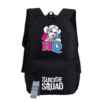 Batman Dark Knight gift Christmas Batman Suicide Squad Backpack Anime Harley Quinn bags Student oxford Schoolbags AS Gift 45x32x13cm AT_71_6
